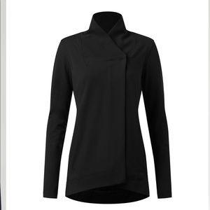 Lululemon belle wrap Black Button jacket size 6